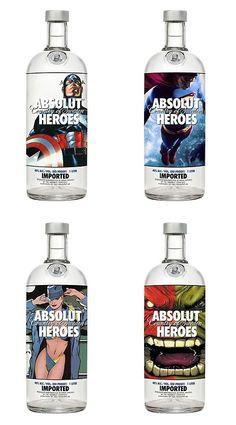 ABSOLUT HEROES #absolut #vodka #ads #AbsolutVodka #AbsolutVodkaAds