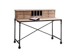 Découvrez ce secrétaire en pin de la marque Tikamoon!Apportez une touche de douceur grâce à ce bureau en pin romantique et vintage. Vous serez séduits par le charme du... Office Desk, Design, Furniture, Vintage, Home Decor, Raw Wood Furniture, Wood Furniture, Solid Wood, Romantic
