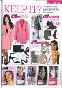 Coverage from Heat Magazine Sep 14th/20th  #coverage #fashion #style #celebrity #lucywatson #stylesteal