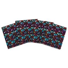 "Suzanne Carter ""Pattern"" Multicolor Abstract Indoor/Outdoor Place Mat (Set of 4)"