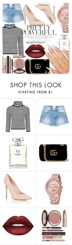 """""""Pretty Powerful"""" by sophiaheart on Polyvore featuring Frame, Chanel, Gucci, Barneys New York, Lime Crime and Charlotte Tilbury"""