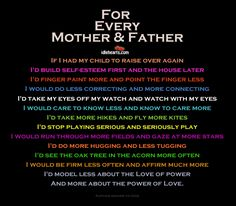 For Every Mother and Father