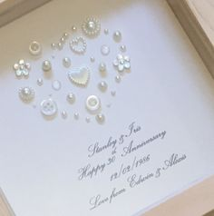 30th Pearl Wedding Anniversary Gift By Lovetwilightsparkles Ideas