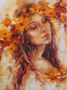 A collection of oils inspired by the richness and poetry of this art medium. Give yourself a piece of exquisiteness and fire. Abstract Portrait, Portrait Art, Woman Painting, Painting & Drawing, Fine Art, Wildlife Art, Beautiful Paintings, Belle Photo, Female Art