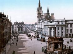 The Castlegate and Union Street in Aberdeen, Scotland