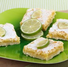 Coconut Key Lime Bars Ingredients  CRUST  2 cups finely crushed gingersnap cookies 3 tablespoons salted butter, melted 1 tablespoon brown sugar FILLING  4oz cream cheese, softened to room temperature 4 large egg yolks 14oz can sweetened condensed milk 1/2 cup finely shredded coconut 1/2 cup key lime juice 2 teaspoons lime zest 1/4 teaspoon salt confectioners' sugar for dusting