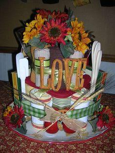 Tuscan bridal shower cake