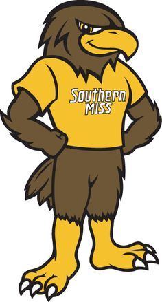 Southern Miss Golden Eagles Mascot Logo (2003) - Southern Miss Golden Eagles mascot - Seymour d'Campus