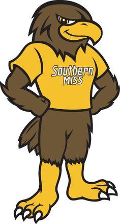 Southern Miss Golden Eagles Mascot Logo (2003) - Southern Miss Golden Eagles mascot - Seymour d'Campus