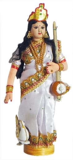 Goddess Saraswati - Goddess of Music and Knowledge (Cloth)