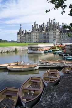 Rowboats at Château de Chambord, Loire Valley, France (by Aigred). A real fairly tale castle. Lucky enough to visit here twice so far. Once as a teenager and once as a Mom.