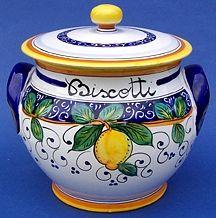Limone Biscotti Jar - Large