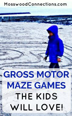 Gross Motor Maze Games are a great way to keep the kids active! Mazes also are a fun way to develop tracking, directionality, & critical thinking skills. Maze Games For Kids, Outdoor Activities For Kids, Outdoor Learning, Outdoor Play, Outdoor Games, Gross Motor Activities, Kids Learning Activities, Physical Activities, Time Activities