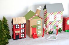 Transform cereal boxes into a Christmas village with this DIY project.