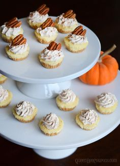 Mini no bake pumpkin cheesecakes