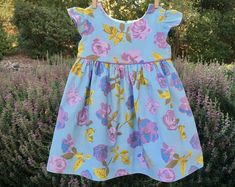 d129c310a BABY DRESS PATTERN, 3 styles in 1 pattern, so many possibilities, digital  sewing pattern, 4 sizes to fit ages 6-24 months, The Alaina Dress   muneer  ...