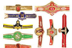 Nationaal Historisch Museum - Sigarenbandjes van verschillende Nederlandse producenten