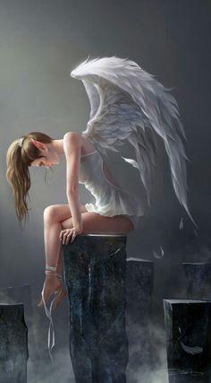 Angel pensativa