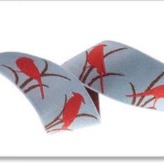 Renaissance Ribbons House Designer - Animal and Juvenile Ribbons - Birds in Blue and Red