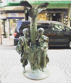 """""""ADAM&EVE""""『アダムとイブ』 #georgesjeanclos #publicart #12の微笑のモニュメント #monument"""