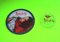 DRACULA By WILLIAMS 1993 NOS ORIGINAL PINBALL MACHINE PLASTIC PROMO SET OF 2 #williams #dracula #pinball #promo