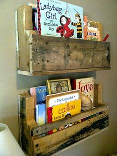 Playroom - Recycled Wood Pallet Shelf