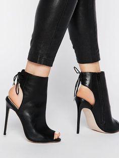 booties Black Ankle Boots Sandal Booties Peep Toe Slingbacks Lace Up High Heel Booties High Heels Outfit, Lace Up High Heels, Platform High Heels, Black High Heels, Dress And Heels, Black Ankle Boots, High Heel Boots, Womens High Heels, Dress Shoes