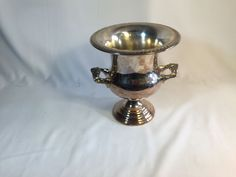 Vintage Silver Plated Ice or Champagne Bucket with a Bit of Gold Tone #ChampagneBucket