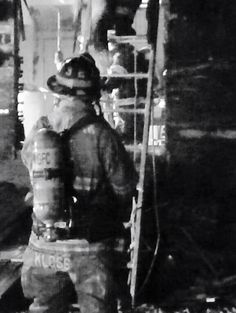 Here's a fire fighter at a house fire 3 weeks back