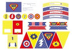 Printable Anniversaire Super-héros #printable #anniversaire #super-heros