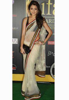 lovely white saree