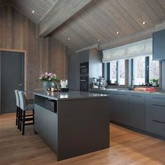 Bilderesultat for jernvitrol trebitt Grand Designs Australia, Architectural Design Studio, Ikea, Timber Panelling, Mountain Decor, Rooms For Rent, Secret Rooms, Cozy Fireplace, Brickwork