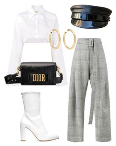 A fashion look from October 2017 featuring champagne shirt, high waisted trousers and white boots. Browse and shop related looks. Glamouröse Outfits, Kpop Fashion Outfits, Girls Fashion Clothes, Stage Outfits, Cute Casual Outfits, Polyvore Outfits, Pretty Outfits, Stylish Outfits, Look Fashion