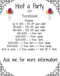Wanna host a Facebook party and earn discounts and free products from Jewelry in Candles? Ask me how! http://www.jewelryincandles.com/store/alexis_loperena