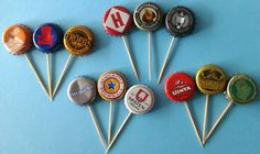 Assorted Beer Bottle Cap Cupcake Toppers di TheBellsNWhistles