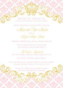 Cinderella's Royal Carriage Baby Shower Invitation | PRINCESS BALL ...