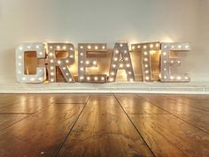 Vintage Marquee Light Signs