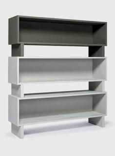 furniture. François Nugues variations of SOPHIE TAEUBER ARP. one of a set of three shelves.