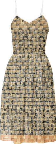 woven book page dress by oriane-stender
