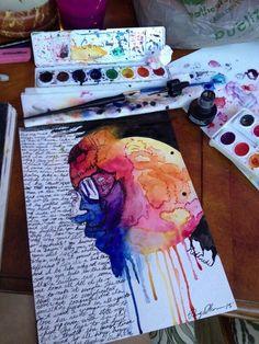 Image via We Heart It https://weheartit.com/entry/144038572 #art #canvas #colorful #indie #kidcudi #paint #paintbrush #watercolor