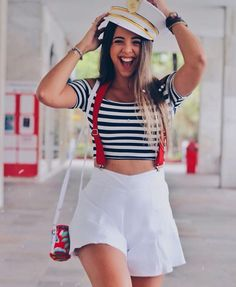 Last Minute Halloween Costumes For Groups Ideas Last Minute Halloween Costumes Zombie Last Minute Halloween Costumes For Me Ideas Sailor Costume Diy, Sailor Halloween Costumes, Last Minute Halloween Costumes, Creative Halloween Costumes, Cute Costumes, Halloween Kostüm, Halloween Outfits, Costumes For Women, Halloween Photos