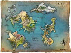 TITAN world map by Tsabo6.deviantart.com on @deviantART