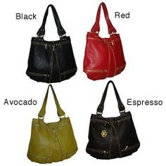 @Overstock - Step out in style with a quality leather handbag from Amerileather. This Rila Zip shoulder bag will fashionably carry all your accessories.http://www.overstock.com/Clothing-Shoes/Amerileather-Rila-Zip-Leather-Shoulder-Bag/4717828/product.html?CID=214117 $69.99