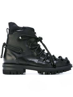 26af72f88add Dsquared2 Lace Detail Boots - Farfetch