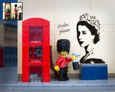 Bricksy – Le street art de Banksy recréé en LEGO