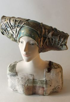 Ceramic Sculpture , Pottery Art , Handmade Sculpture Bust by ImagoArtDesign Ceramic Sculpture Figurative, Figurative Art, Pottery Art, Ceramic Art, Fine Art, Etsy, Portrait, Handmade, Painting