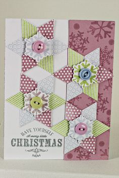 Harlequin Snowflakes Card by Erin Lincoln for Papertrey Ink (September 2012)