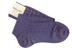 Knee socks with decoration. 70% baby camel 30% silk