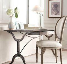 Simplicity - Love the desk & chair! and the art, lamp, etc. are so beautiful!