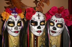 Dia de Los Muertos Masks Custom Made to Your Order. Perfect for Display or Wear